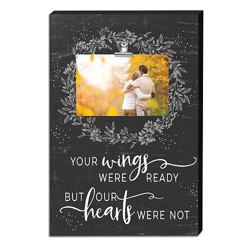"12"" x 18"" Your Wings Canvas Clip Picture Frame"