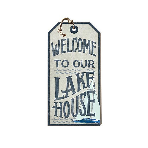 Welcome to the Lake Small Hanging Tag Sign