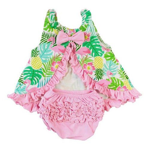 Tropical Swing Tank with Ruffled Bloomers.