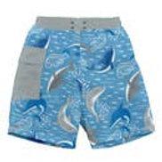Swim trunks with swim diaper built in