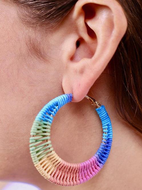 Rainbow Rope Wrapped Earrings
