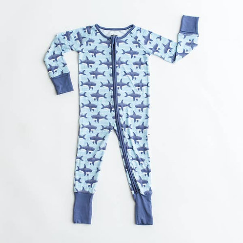 Sharks Bamboo Convertible Romper/Sleeper