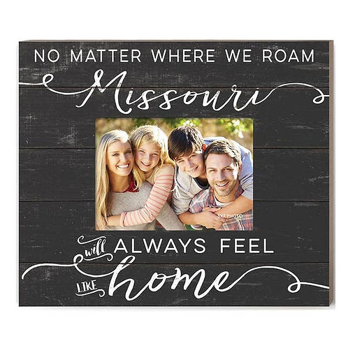Weathered Slat Photo Frame Feels Like Home Missouri