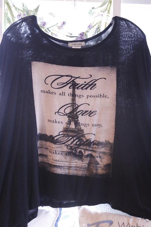 Black Paris Shirt