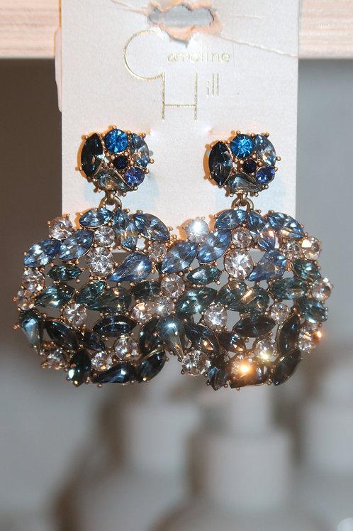 Casey Crystal Blue Earrings