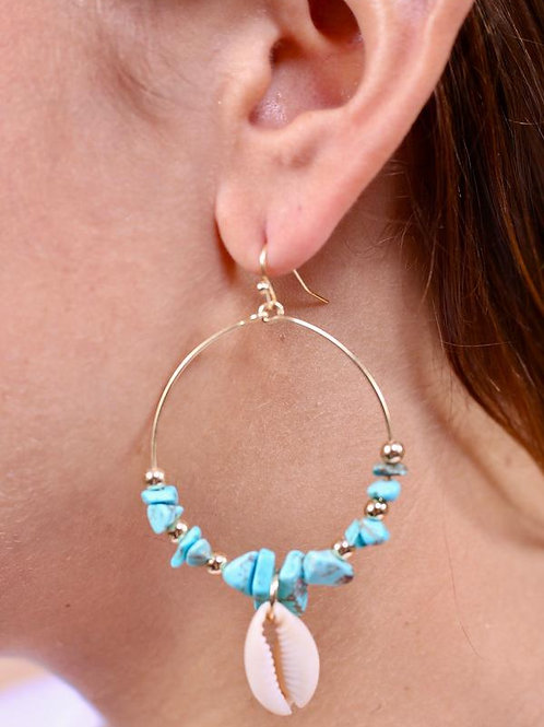 Don't Be Salty earrings with shells