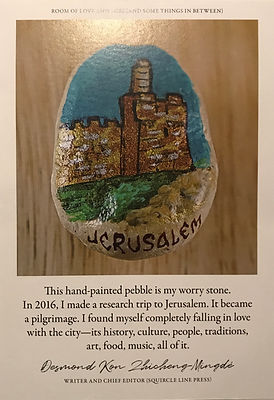 TAH Worry Stone Poster Textures Jerusale