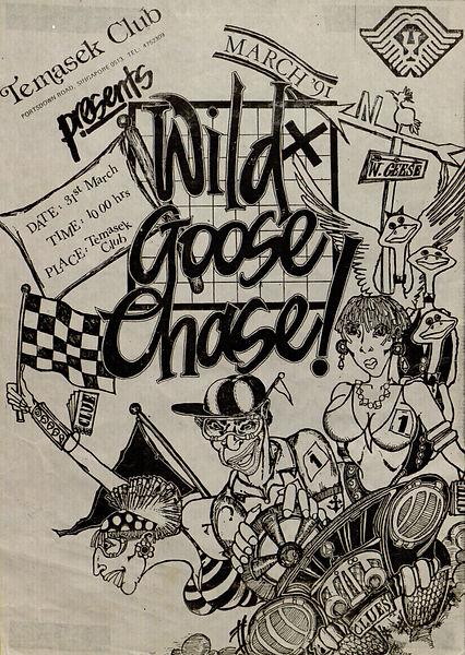 Wild Goose Chase Poster 1991 Desmond Kon