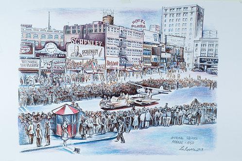 Journal Square Parade 1950