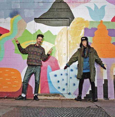Zosen & Mina mural artists duo