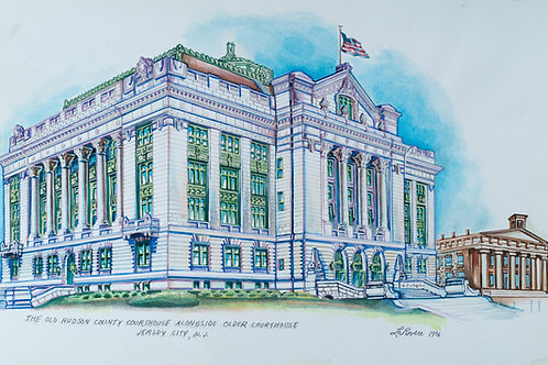 The Old Hudson County courthouse 1986