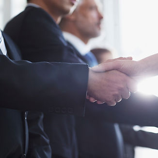 Men shaking hands