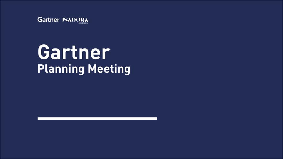 Gartner-Planning Meeting