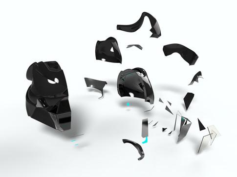 Helmet-rendering-exploded view