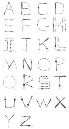 Kitchenware alphabet
