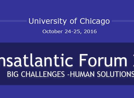 15th Annual Transatlantic Forum 2016 (Chicago Oct 24-25)