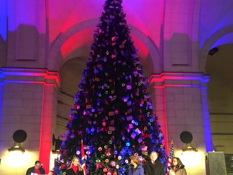 Christmas Tree Lighting Ceremony at Union Station
