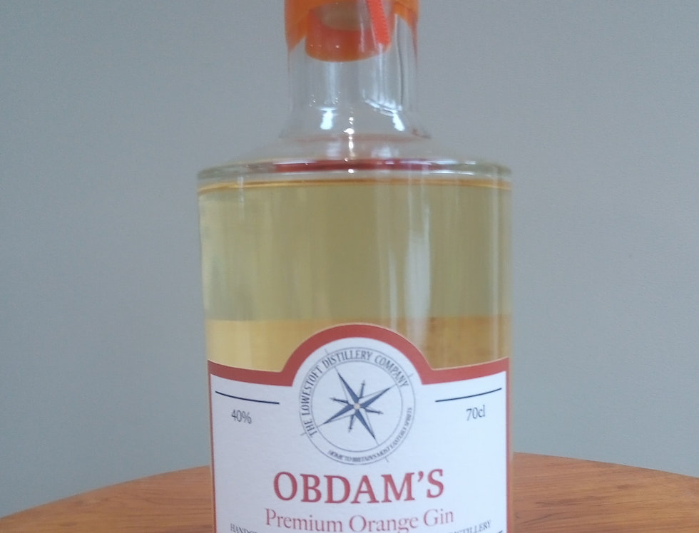 Obdam's Premium Orange Gin - 50cl @ 40% ABV