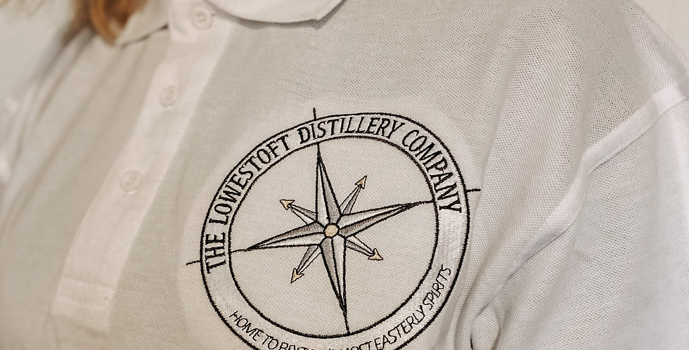 Lowestoft Distillery Company Embroidered Polo Shirt