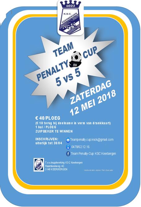 2e Penaltycup KSC 2018 op 12 mei!
