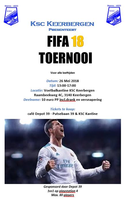 PS4 FIFA18 Tornooi: 26 mei!