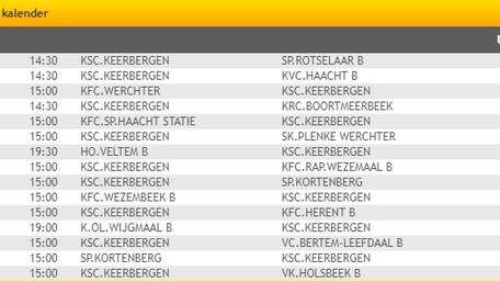 Matchen eerste ploeg terugronde '18-'19