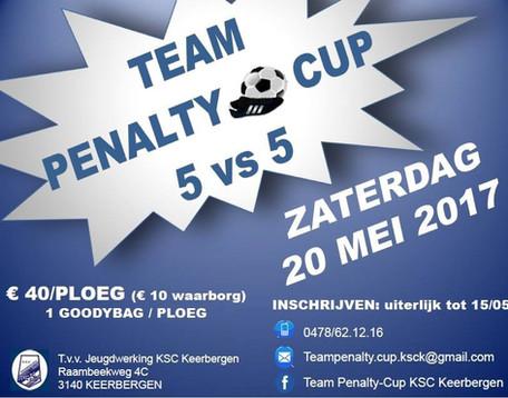 Zaterdag 20 mei 2017, team penalty cup 5 vs 5!