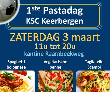 Eerste Pastadag KSC Keerbergen op 3 maart