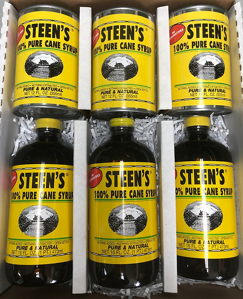 Pure Cane Syrup 3 Bottles 3 Cans
