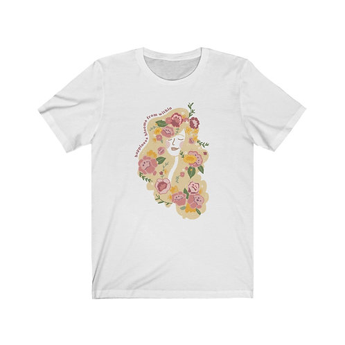 Happiness Blooms from Within Tee, Blonde Hair