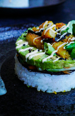"""Prawn """"Tempura"""" Sushi Stacks (GF, DF)"""