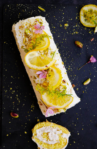 Vanilla and Lemon Whipped Coconut Roulade (GF, DF)