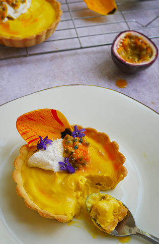 Mango, Passion Fruit & Coconut Tarts (GF, DF*)