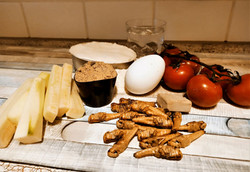 Zutaten frittierte Heuschrecken