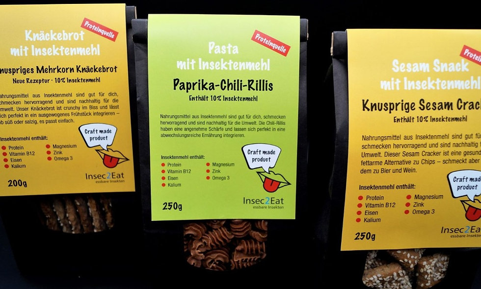 Insekten Lebensmittel Insec2Eat