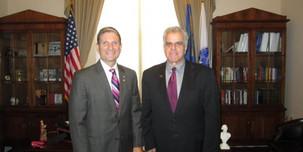 Senator Joe Heck and Arnold Stalk, PhD