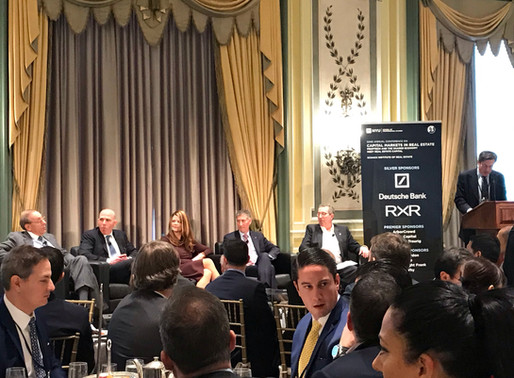 NYU 52nd Capital Market in Real Estate Conference