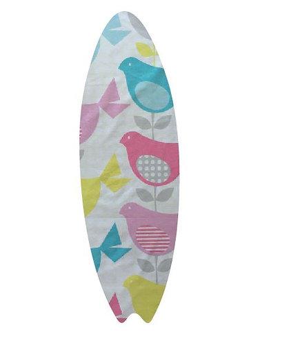 Surfboard pin board - 'birdie num'