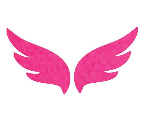Pair of wings pin board 'hot pink'