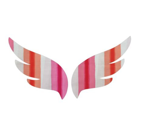 Pair of wings pin board 'pop stripe'