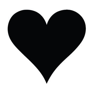 Heart pin board - 'black'