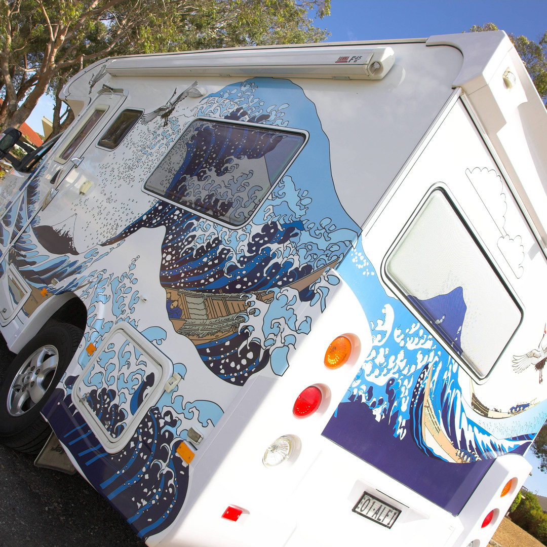 creative wrap for motorhome