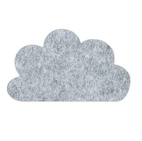 Cloud pin board - 'grey fuzz'