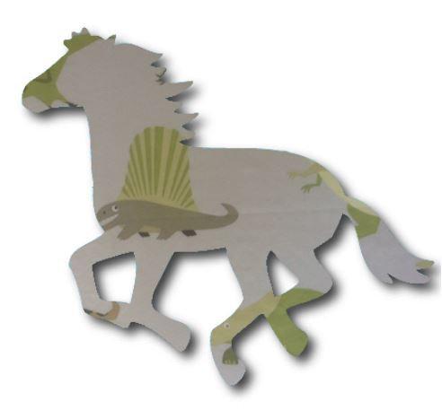 Unicorn or horse pin board - 'dinos alive'