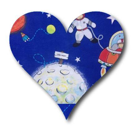 Heart pin board - 'space port'
