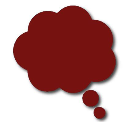 Thought bubble -'burgundy'