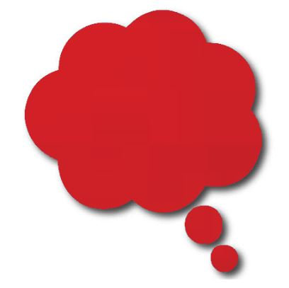 Thought bubble -'red'