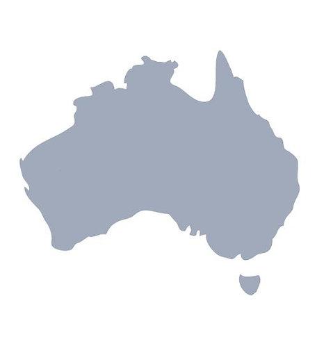 Australia Map pin board  - 'cool'