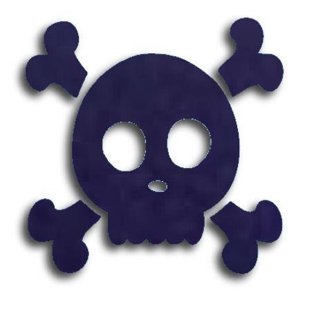 Skull & Crossbones pin board - 'navy'