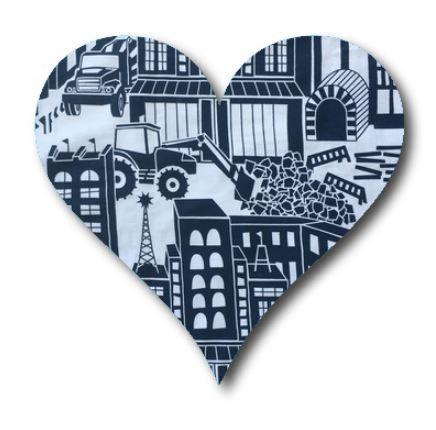 Heart pin board - 'digger'